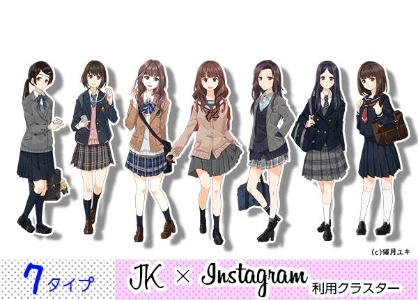「JK×Instagram利用」クラスター